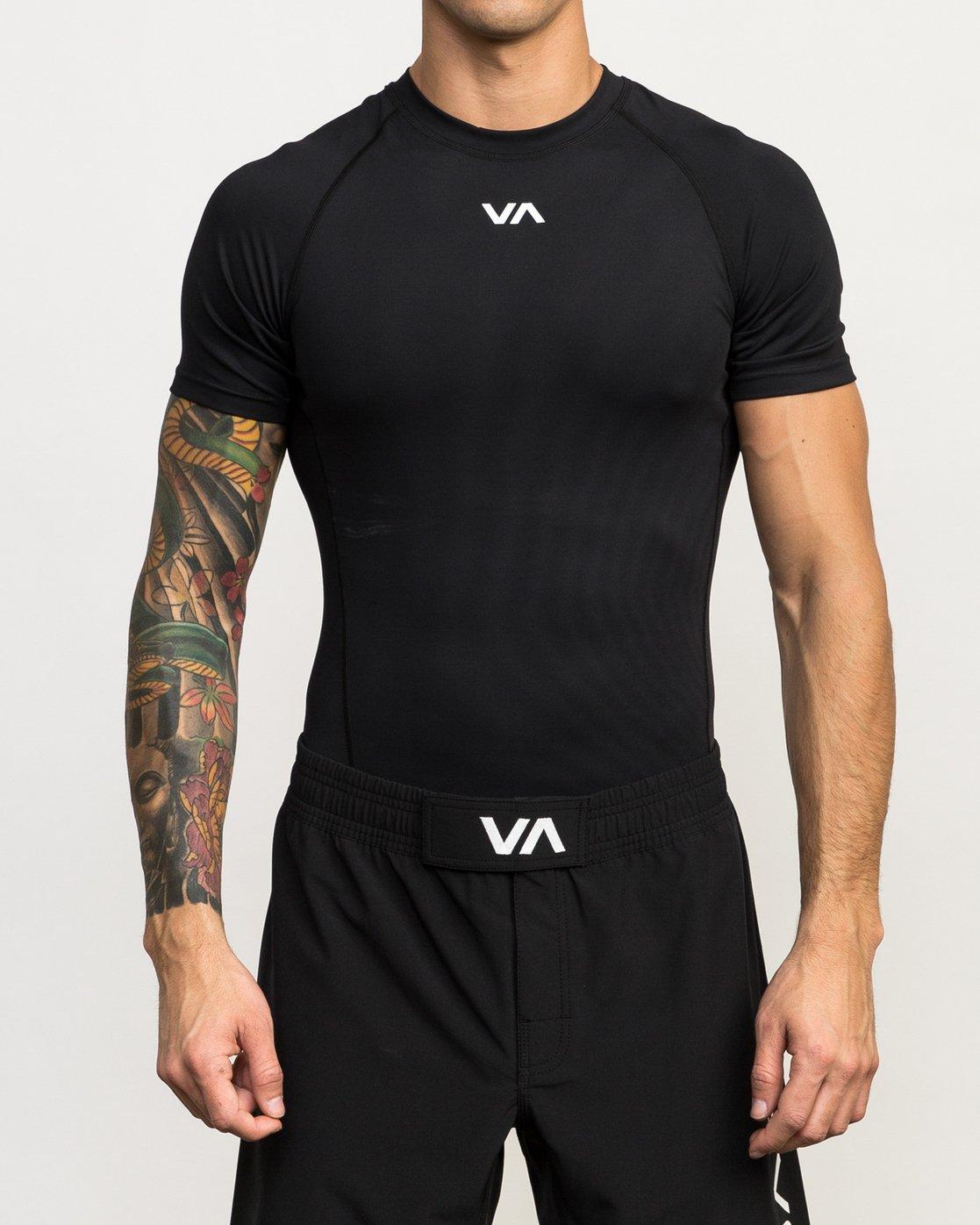 1 Va Performance Short Sleeve Shirt Black L4KTMDRVF8 RVCA