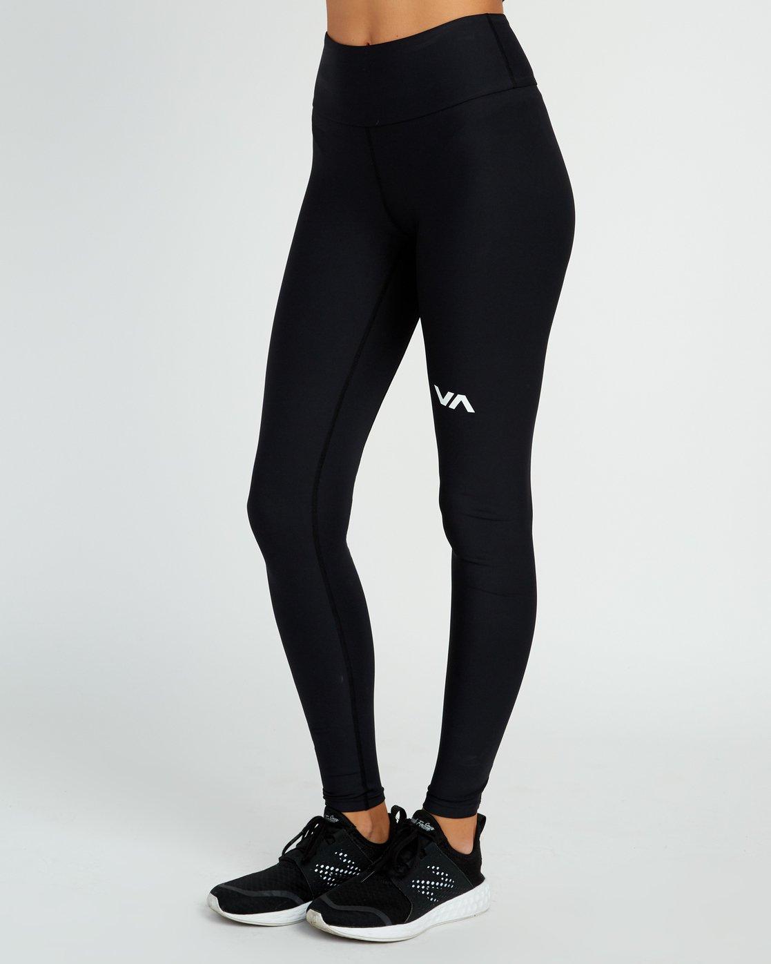 2 VA Performance - Sports Legging for Women Black L4PTWARVF8 RVCA