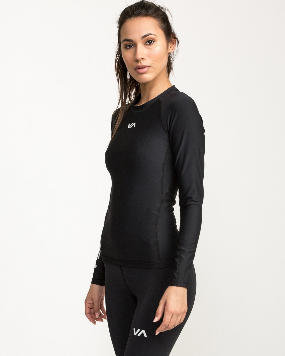 3 VA Compression LS Shirt Black L4TPWCRVF8 RVCA