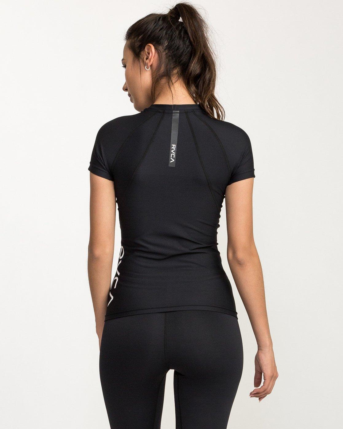 1 VA Compression - Sports Short Sleeves T-Shirt for Women Black L4TPWDRVF8 RVCA