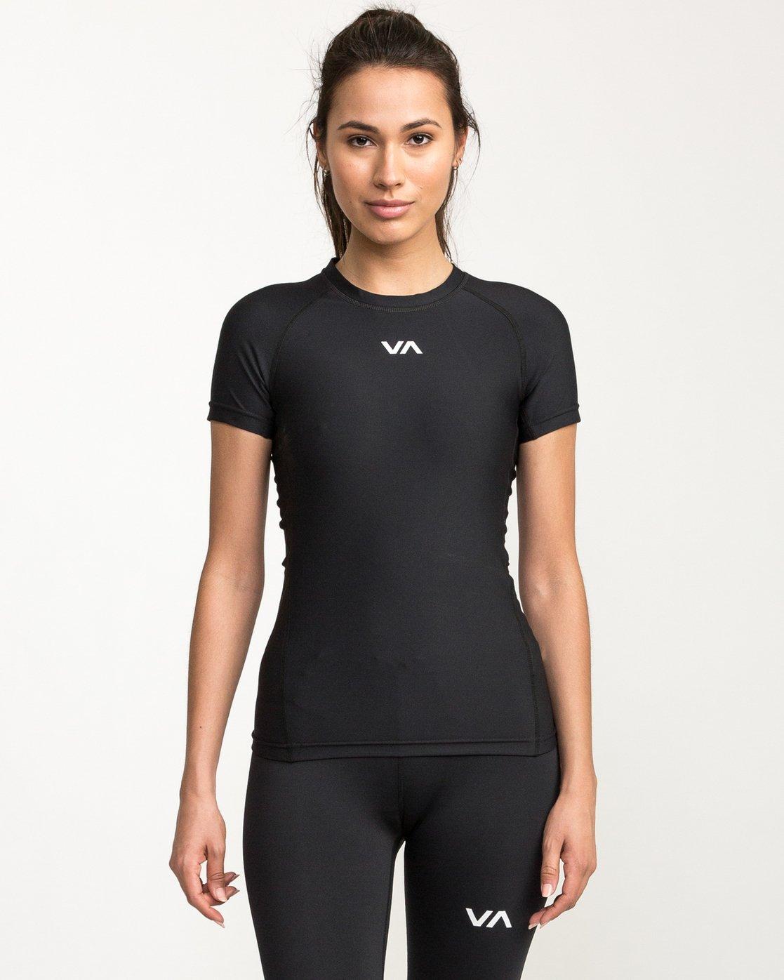 0 VA Compression - Sports Short Sleeves T-Shirt for Women Black L4TPWDRVF8 RVCA