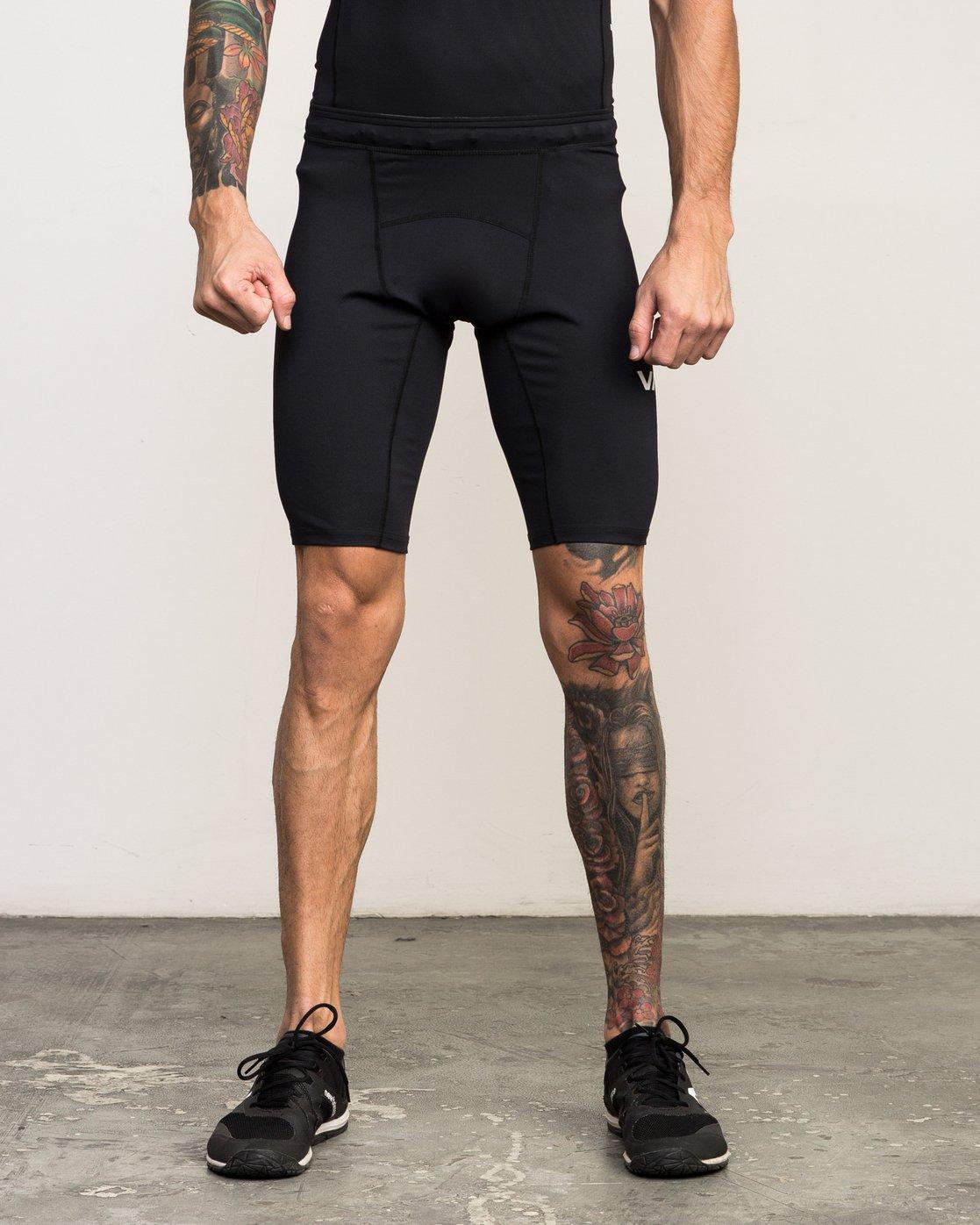 1 VA Performance - Sports Short for Men Black L4WKMMRVF8 RVCA