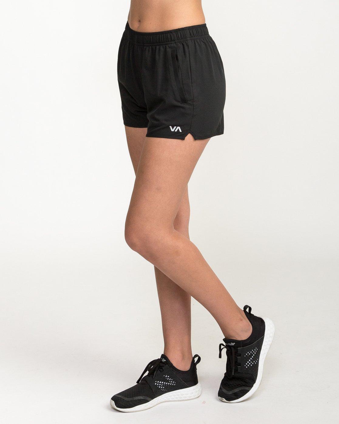 2 VA Sport Yogger Stretch - Short pour Femme Noir L4WKWCRVF8 RVCA