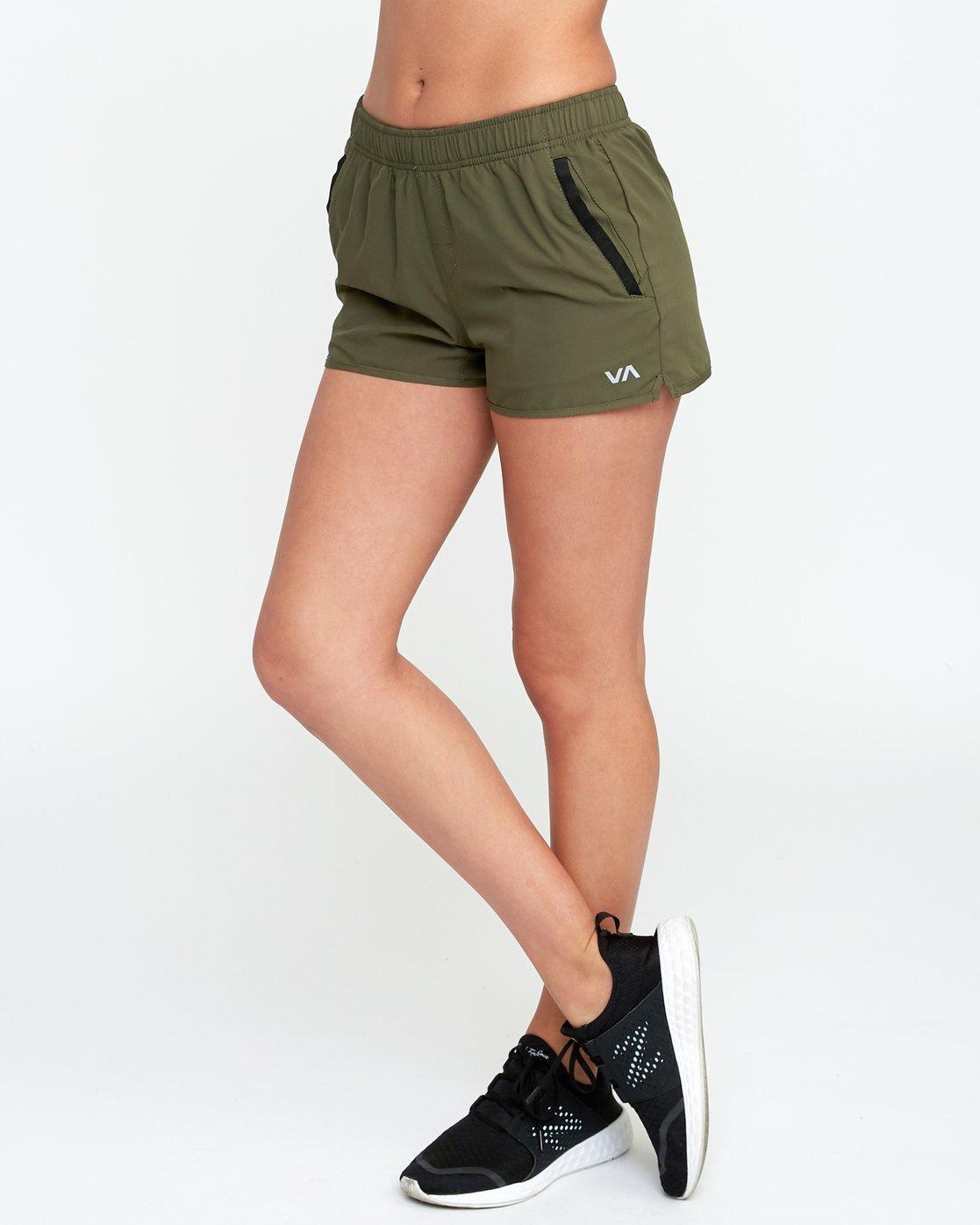 2 VA Sport Yogger Stretch - Short pour Femme Vert L4WKWCRVF8 RVCA