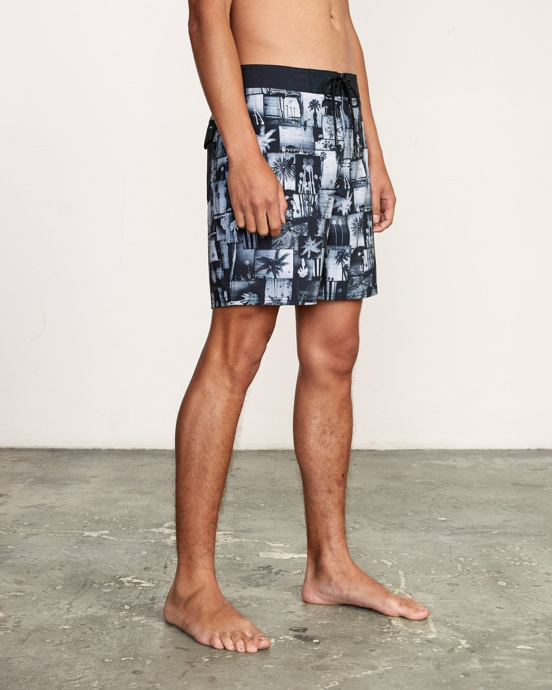 "6 Nash 18"" Boardshort Black M101VRNT RVCA"