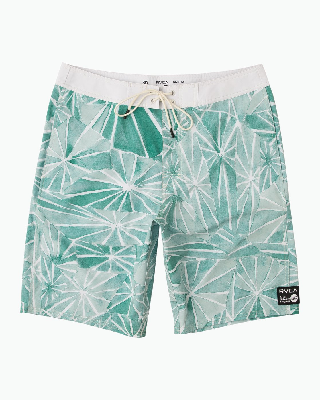 "0 Blade Printed 20"" Boardshort Green M105QRBL RVCA"