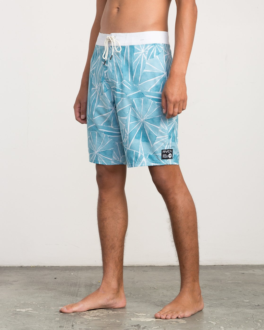 "2 Blade Printed 20"" Boardshort Blue M105QRBL RVCA"