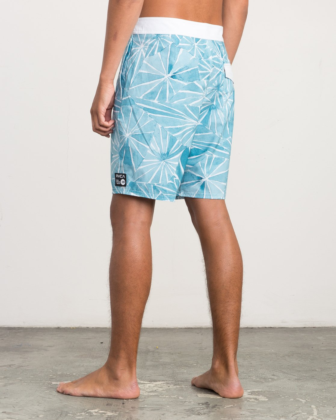 "3 Blade Printed 20"" Boardshort Blue M105QRBL RVCA"