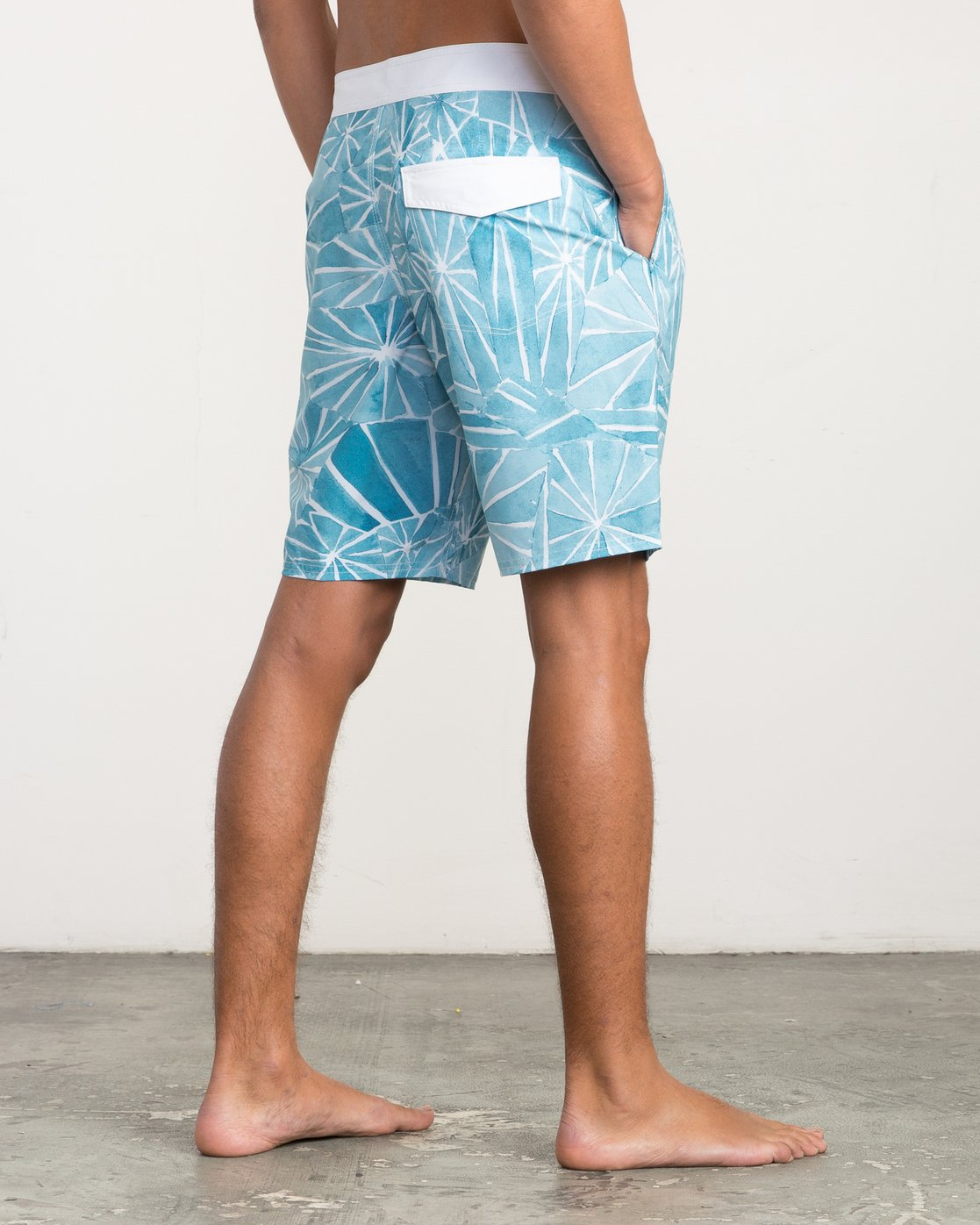 "5 Blade Printed 20"" Boardshort  M105QRBL RVCA"