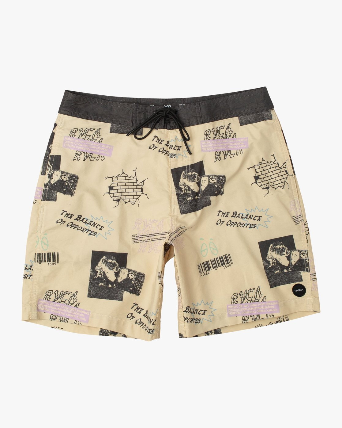 RVCA Boys Pulled Lines Trunk