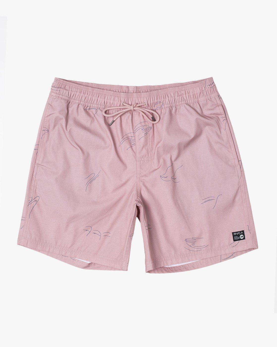 """7 CLUB 17"""" ELASTIC SHORT Pink M1071RCE RVCA"""