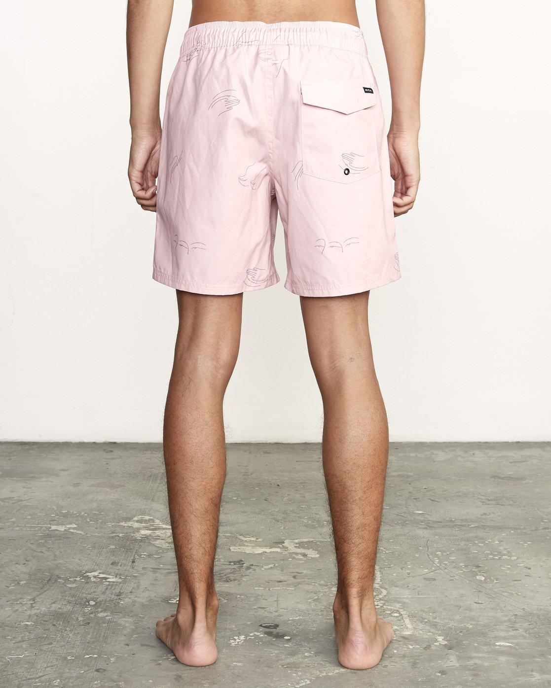 """4 CLUB 17"""" ELASTIC SHORT Pink M1071RCE RVCA"""
