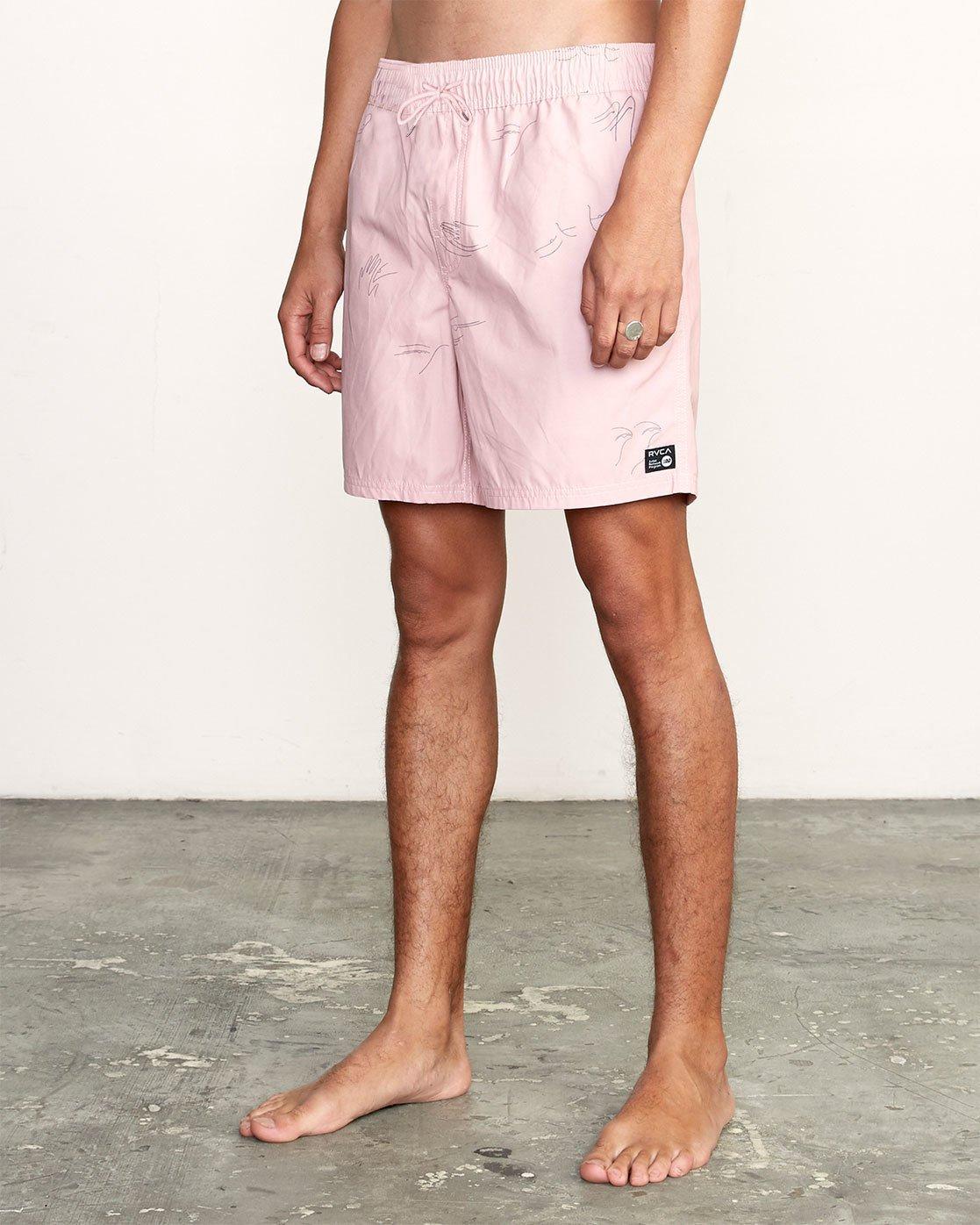 """2 CLUB 17"""" ELASTIC SHORT Pink M1071RCE RVCA"""