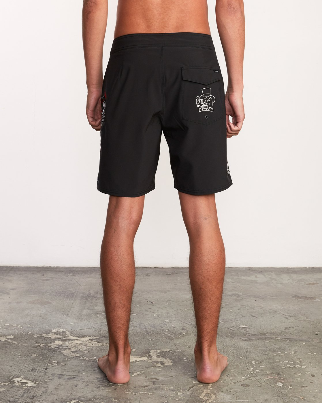 "4 Colin And Bert 19"" Boardshort Black M110URCB RVCA"
