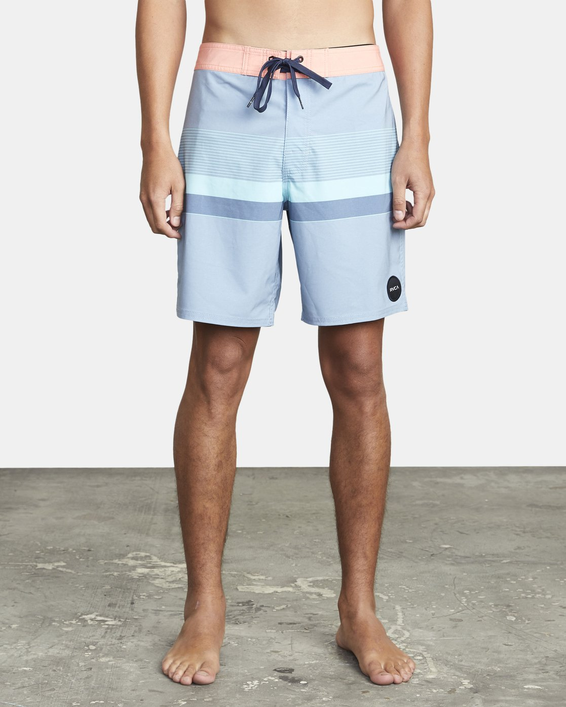 "2 RODGER BOARDSHORT 18"" Blue M1132RRT RVCA"