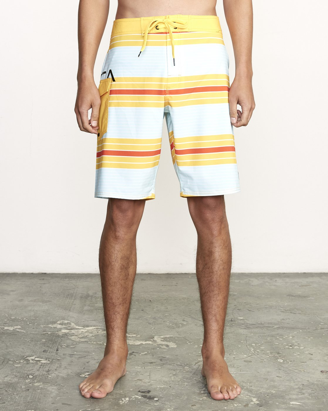 "1 UNCIVIL STRIPED 20"" TRUNK Yellow M1161RUS RVCA"