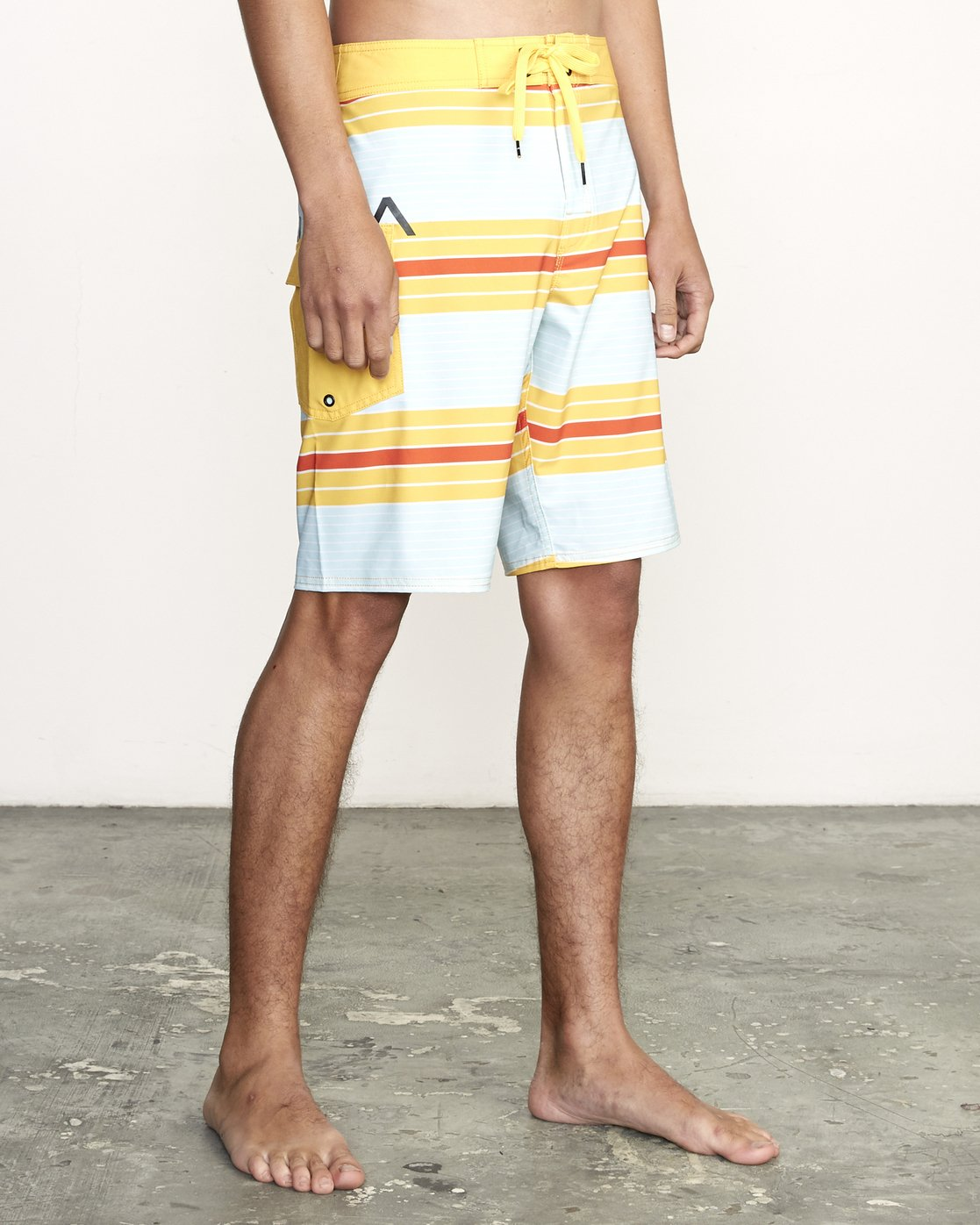 "6 UNCIVIL STRIPED 20"" TRUNK Yellow M1161RUS RVCA"