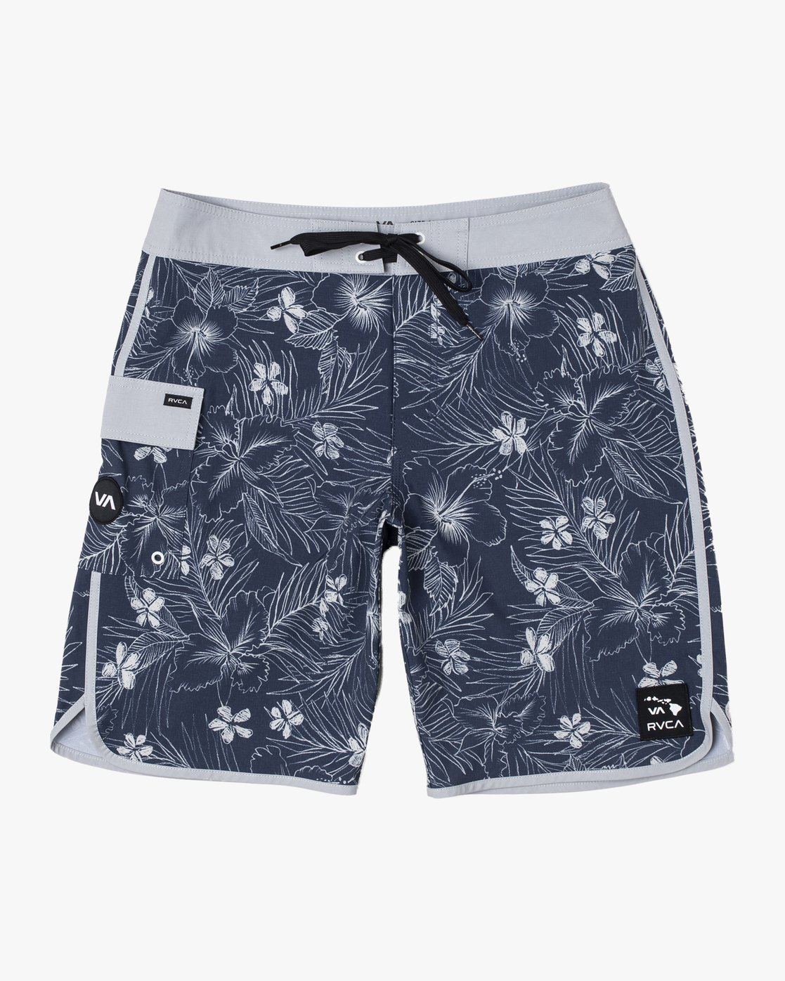 1 SPACED FLORAL TRUNK Blue M1223RSF RVCA