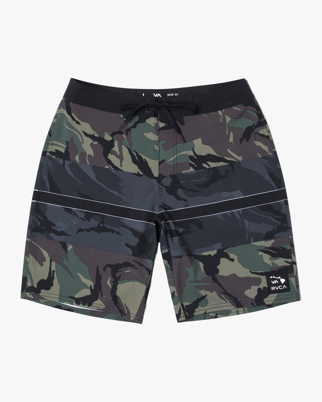 1 VA ISLANDS BOARDSHORT Black M1223RVI RVCA