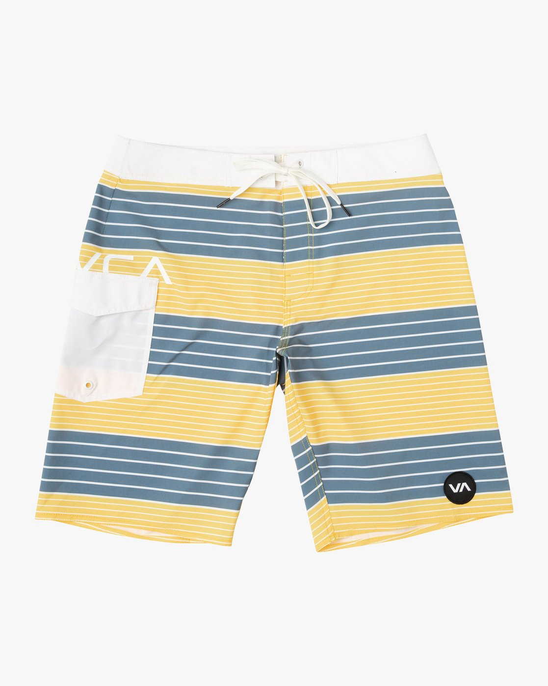 "0 Uncivil Stripe 20"" Boardshort Yellow M164TRUN RVCA"
