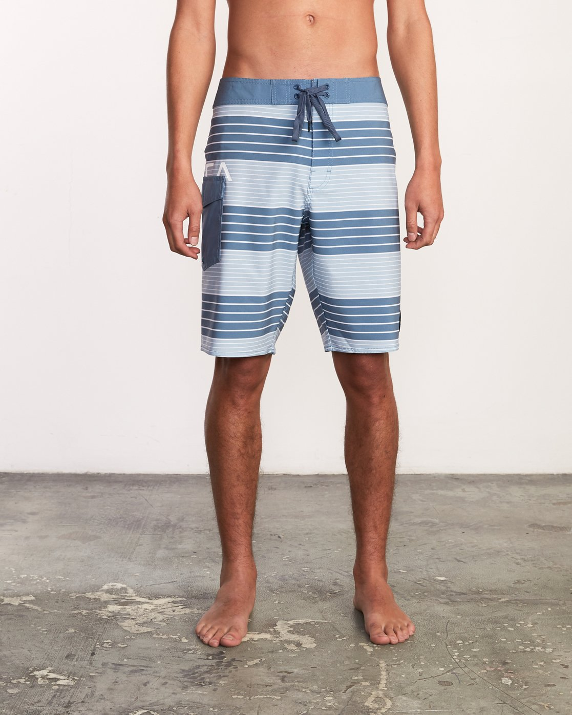 "1 Uncivil Stripe 20"" Boardshort Red M164TRUN RVCA"