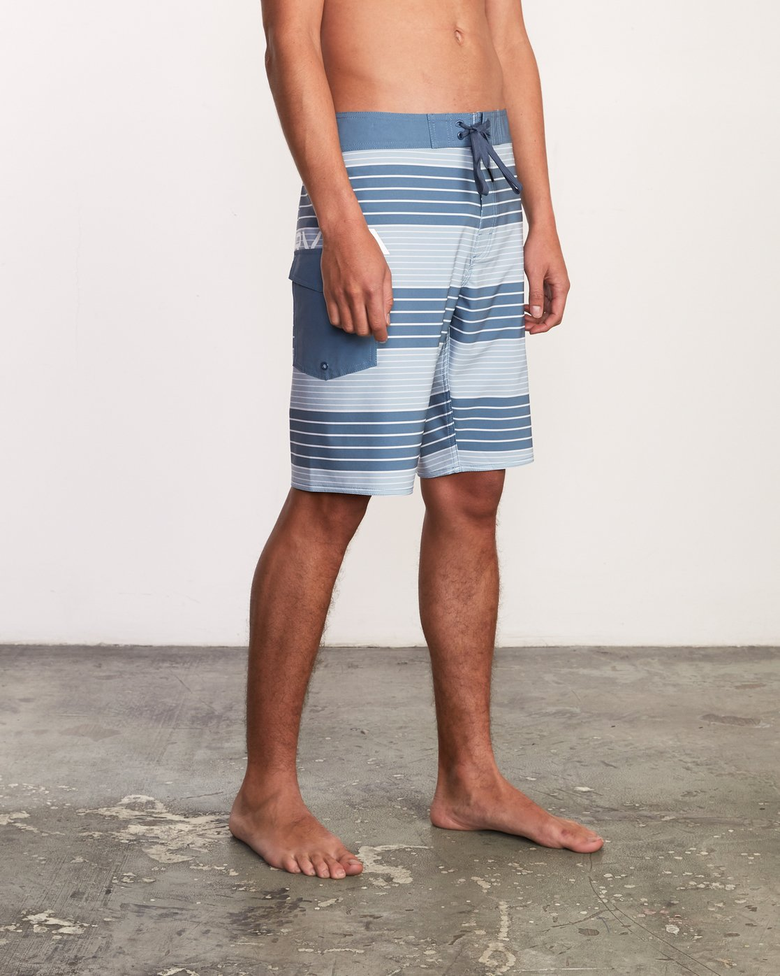 "5 Uncivil Stripe 20"" Boardshort Blue M164TRUN RVCA"