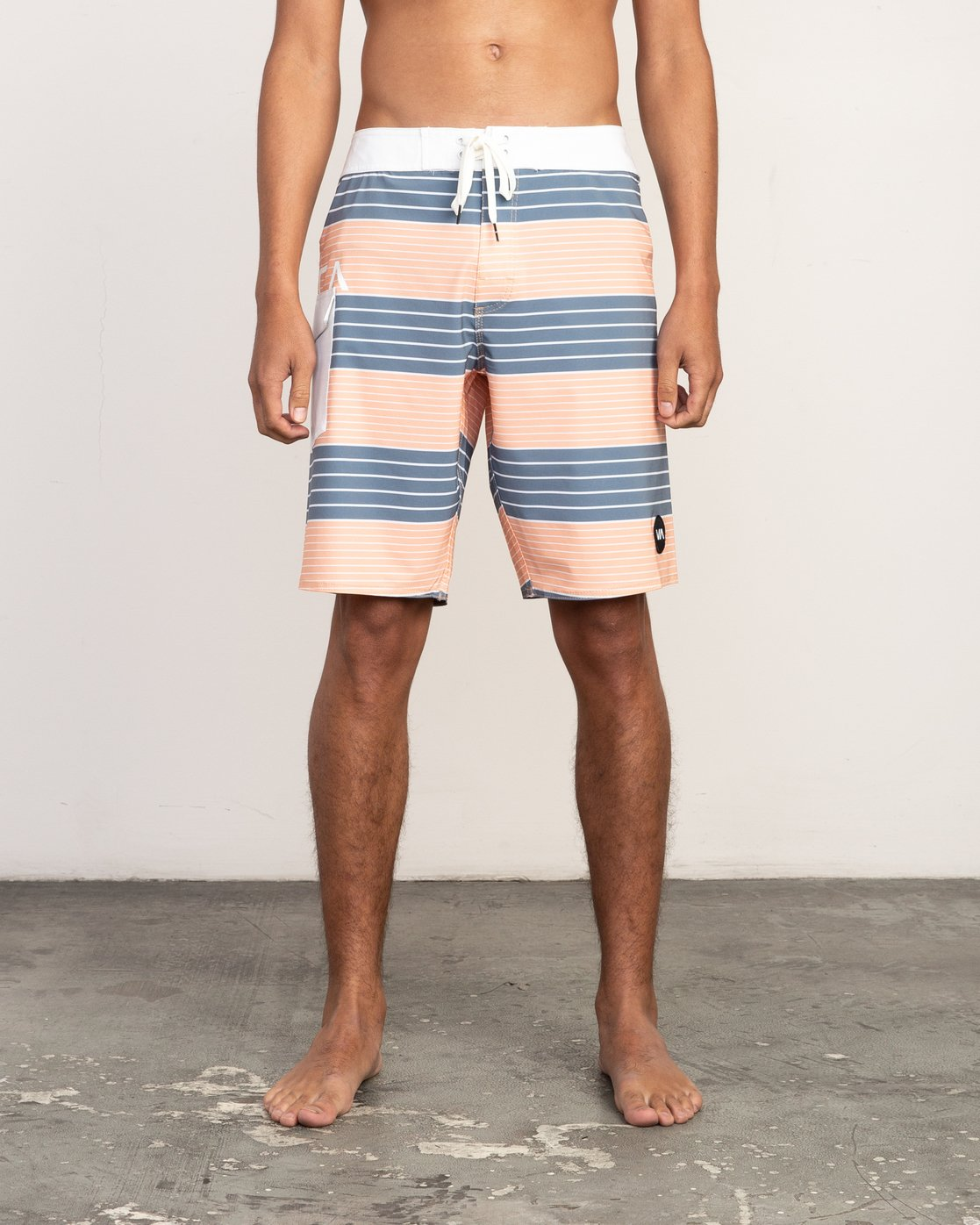 "1 Uncivil Stripe 20"" Boardshort Orange M164TRUN RVCA"