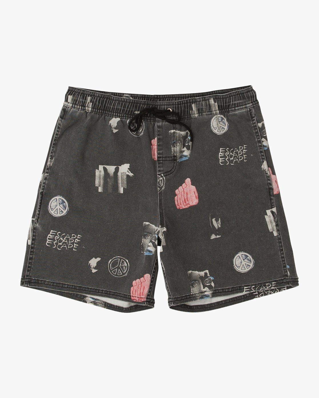"0 Escape Elastic 17"" Short Black M203URES RVCA"