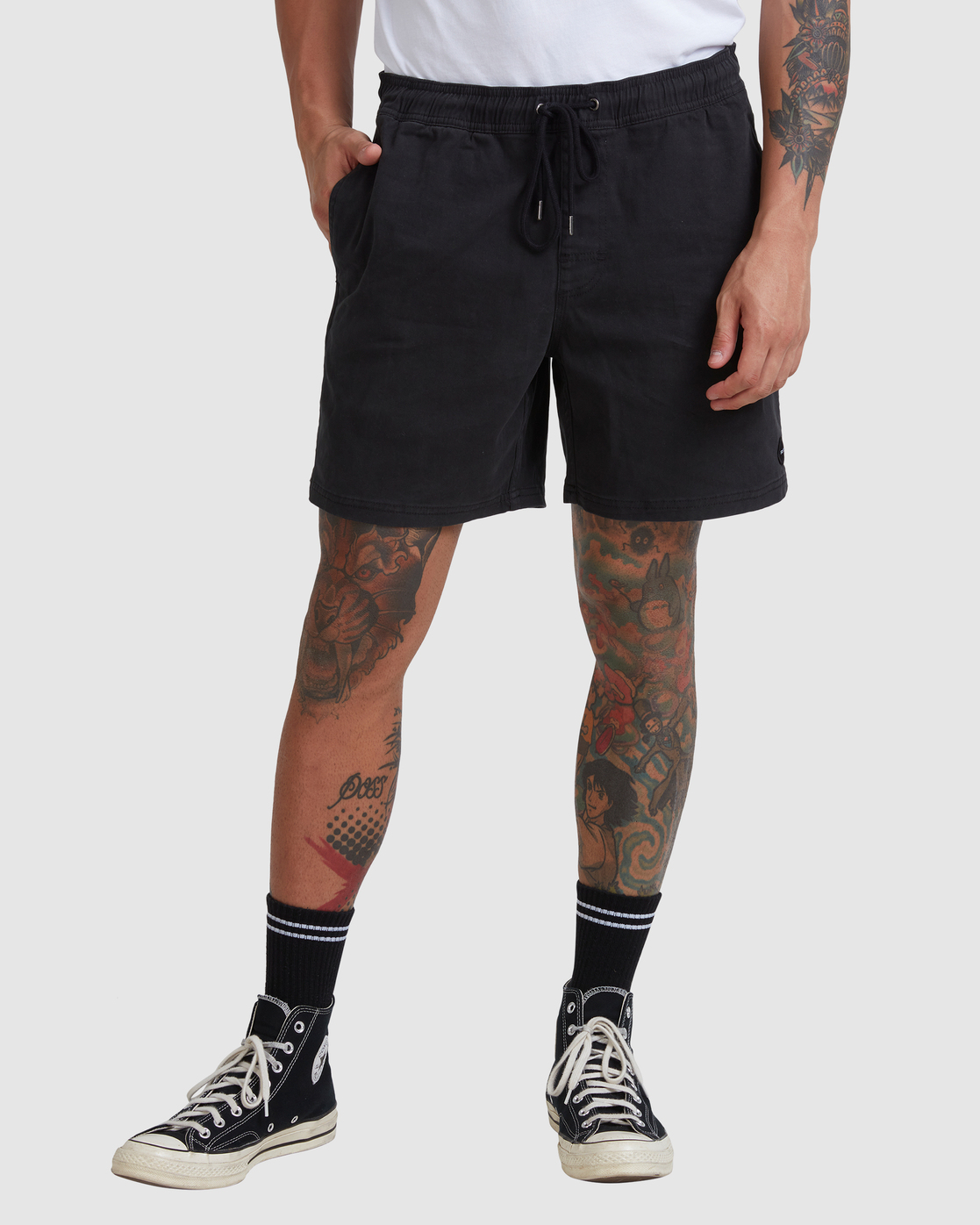 "8 ESCAPE ELASTIC SHORT 17"" Black M2073REE RVCA"