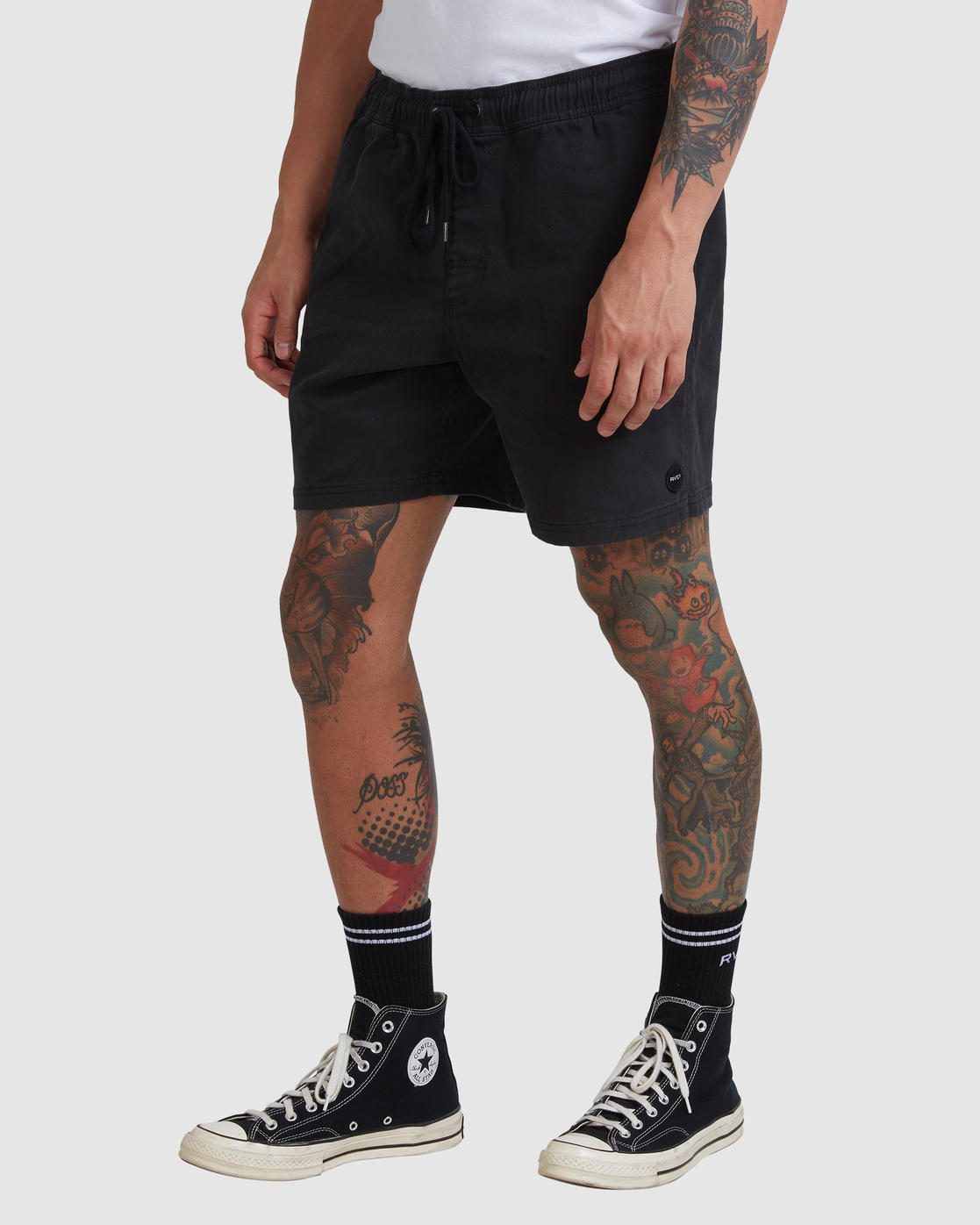 "11 ESCAPE ELASTIC SHORT 17"" Black M2073REE RVCA"