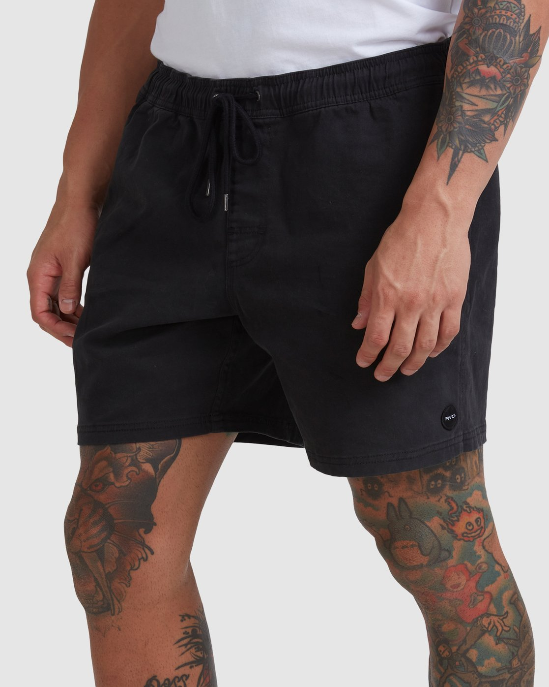 "12 ESCAPE 17"" ELASTIC SHORT Black M2073REE RVCA"