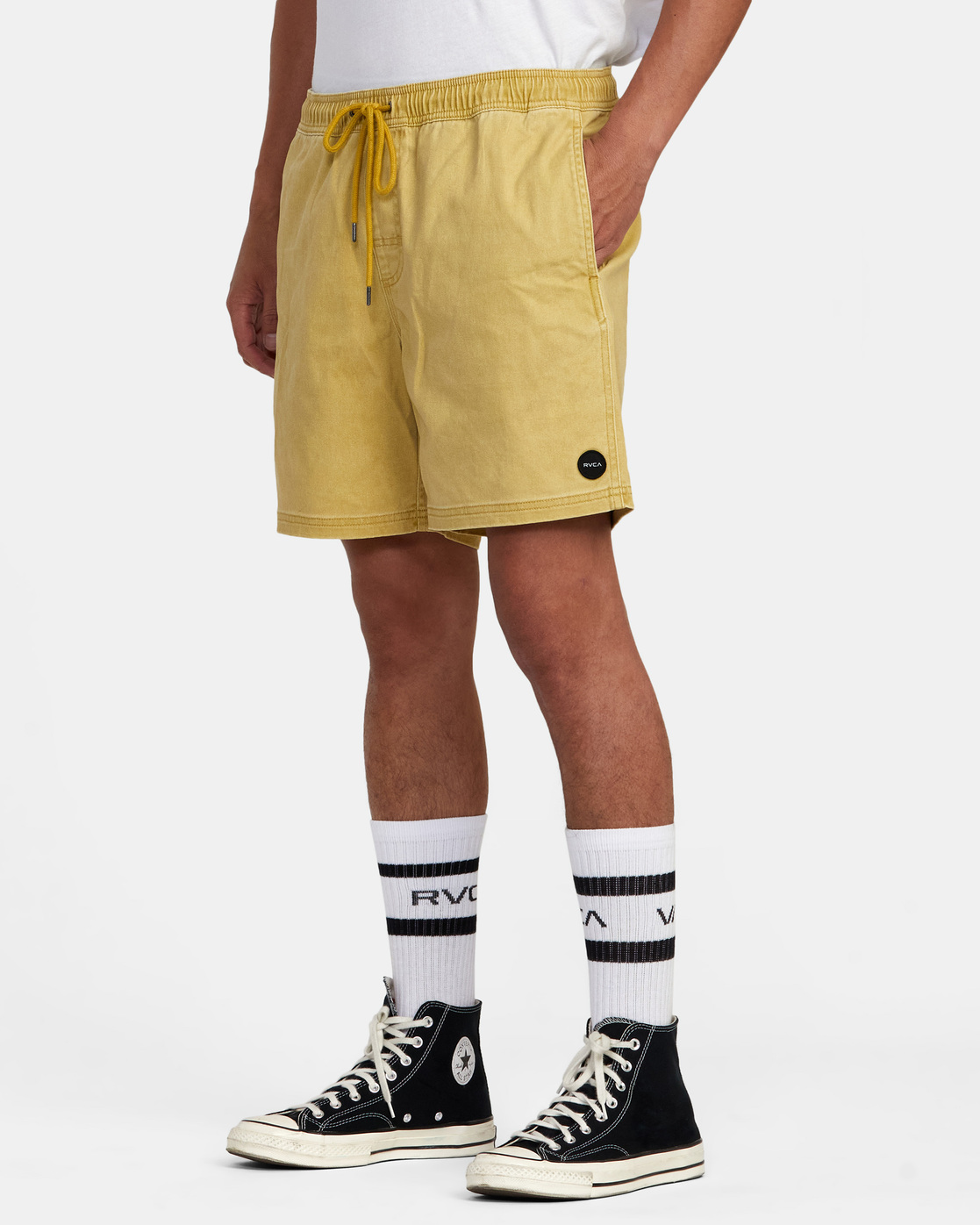 "4 ESCAPE ELASTIC SHORT 17"" Brown M2073REE RVCA"