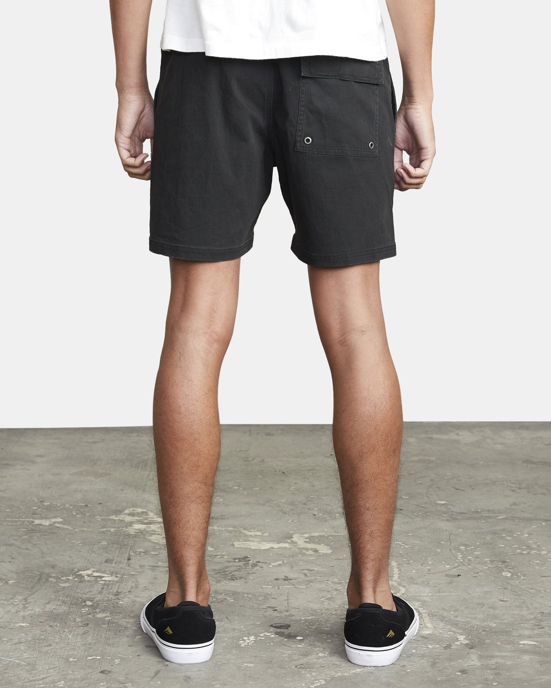 "3 ESCAPE ELASTIC SHORT 17"" Black M2073REE RVCA"