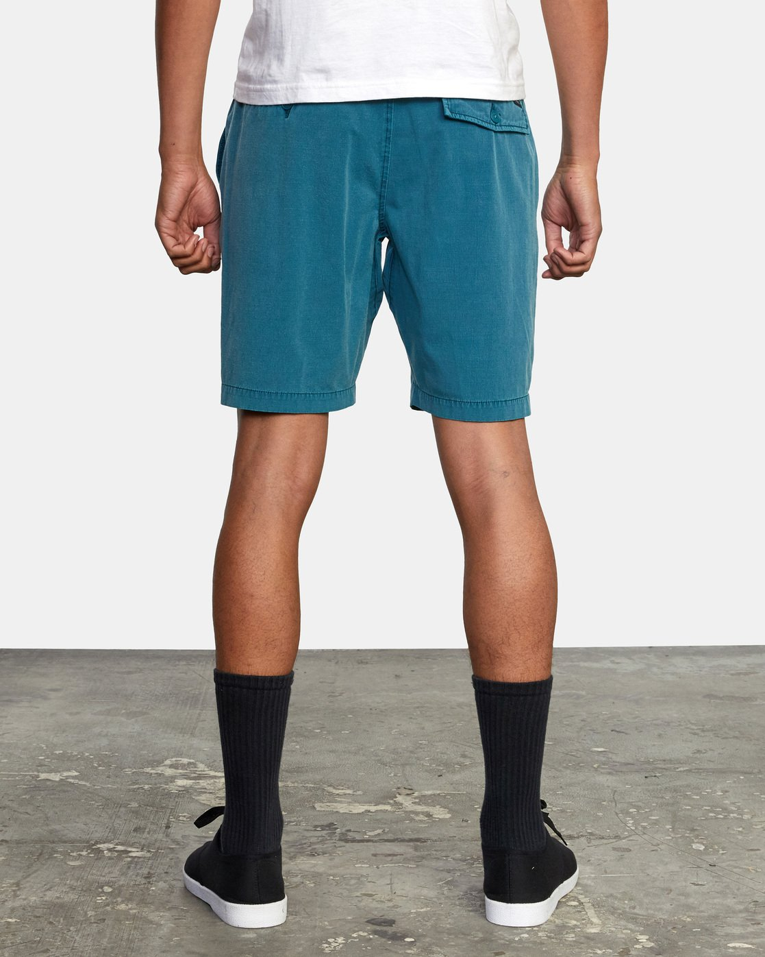 "2 ALL TIME RINSED COASTAL HYBRID SHORT 19"" Blue M211TRCR RVCA"