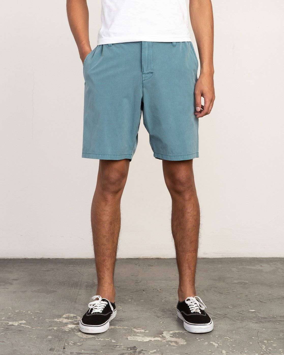 1 All Time Rinsed Coastal Hybrid Short Blue M211TRCR RVCA