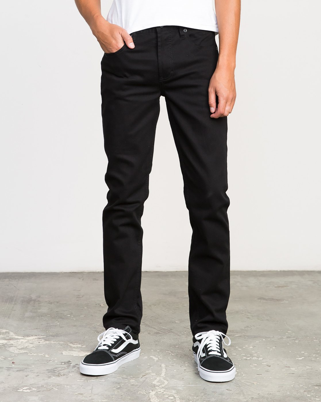 0 Hexed Denim Jeans Black M301NRHE RVCA