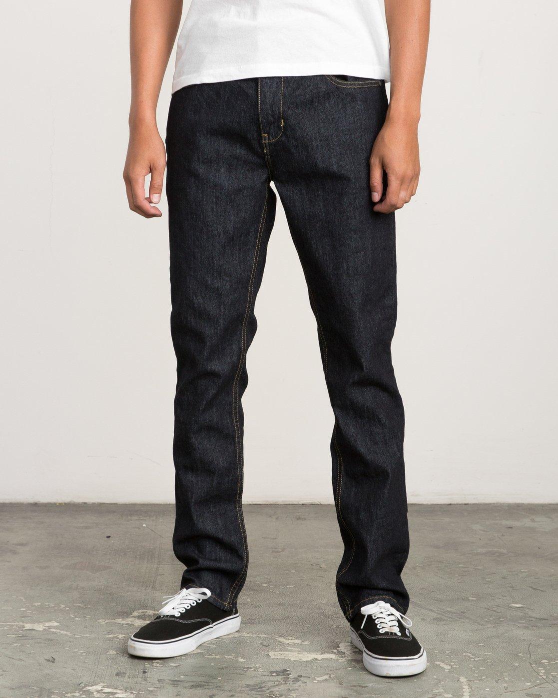 0 Daggers Slim-Straight Jeans Blue M301QRDA RVCA