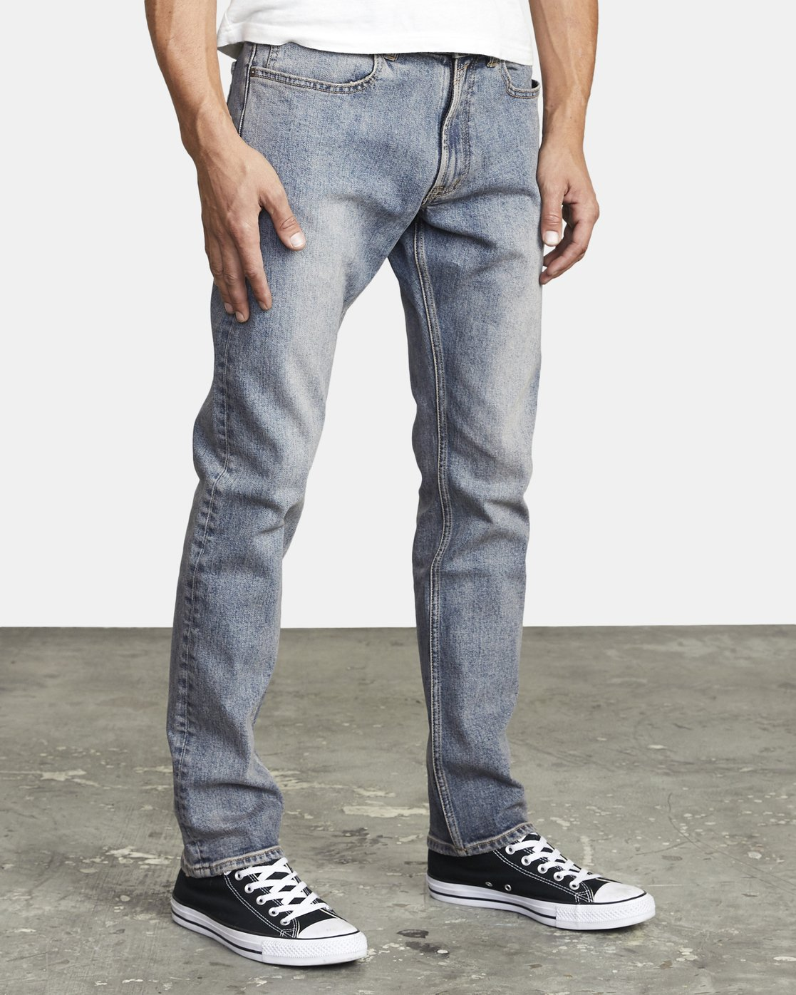 6 DAGGERS SLIM FIT DENIM Blue M3023RDA RVCA