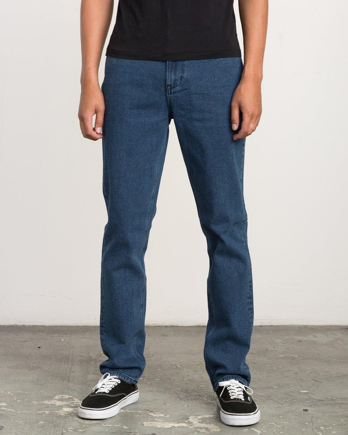 0 Daggers Slim-Straight Jeans Blue M302QRDA RVCA