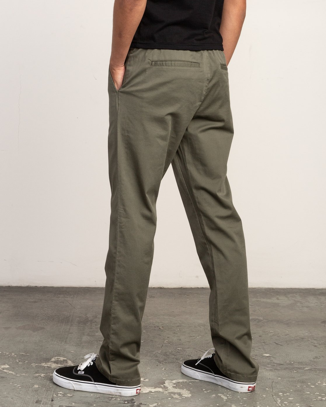 3 WeekEnd Elastic straight fit Pant Green M302TRWE RVCA