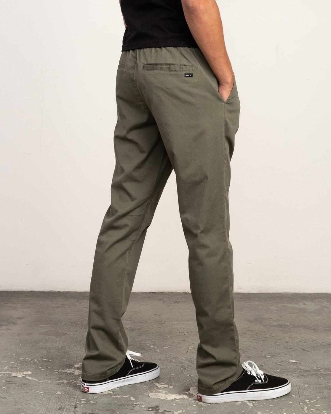 4 WeekEnd Elastic straight fit Pant Green M302TRWE RVCA