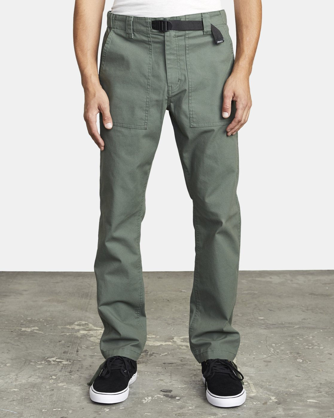 2 ALL TIME SURPLUS STRAIGHT FIT PANT Green M3033RSU RVCA