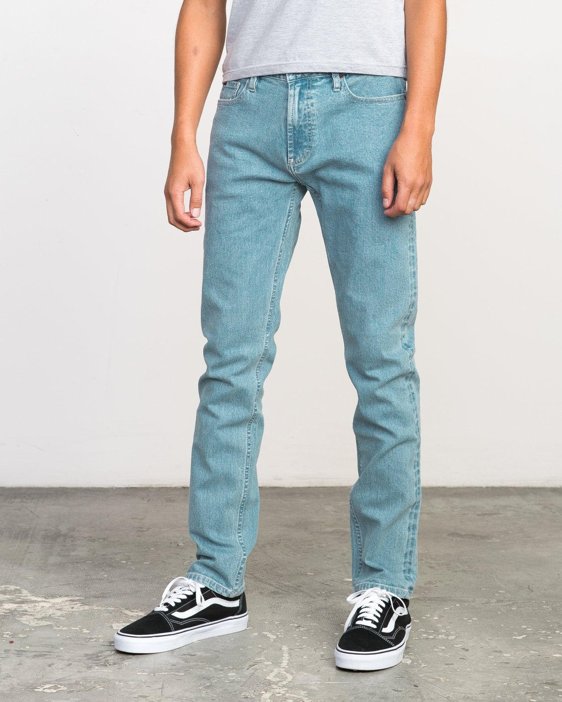 1 Stay RVCA Denim Jeans Blue M303NRST RVCA