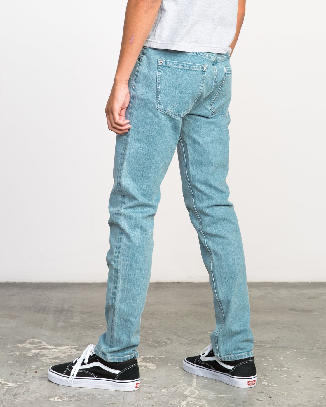 2 Stay RVCA Denim Jeans Blue M303NRST RVCA