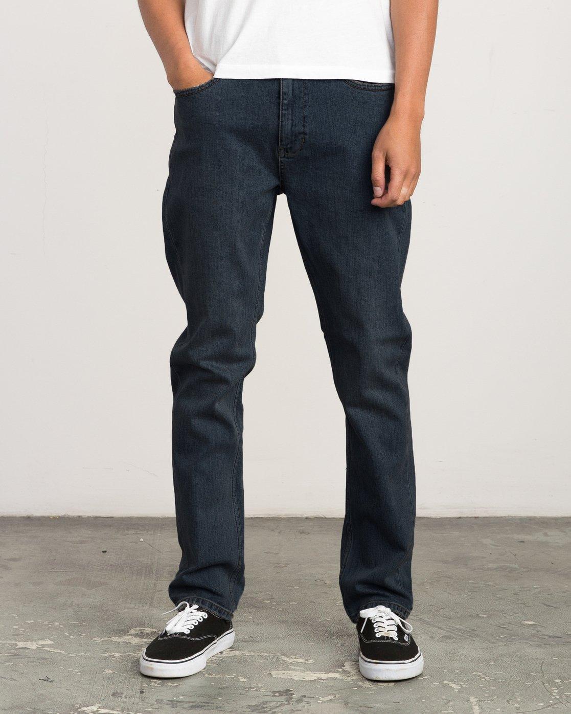 0 Daggers Slim-Straight Jeans Blue M303QRDA RVCA