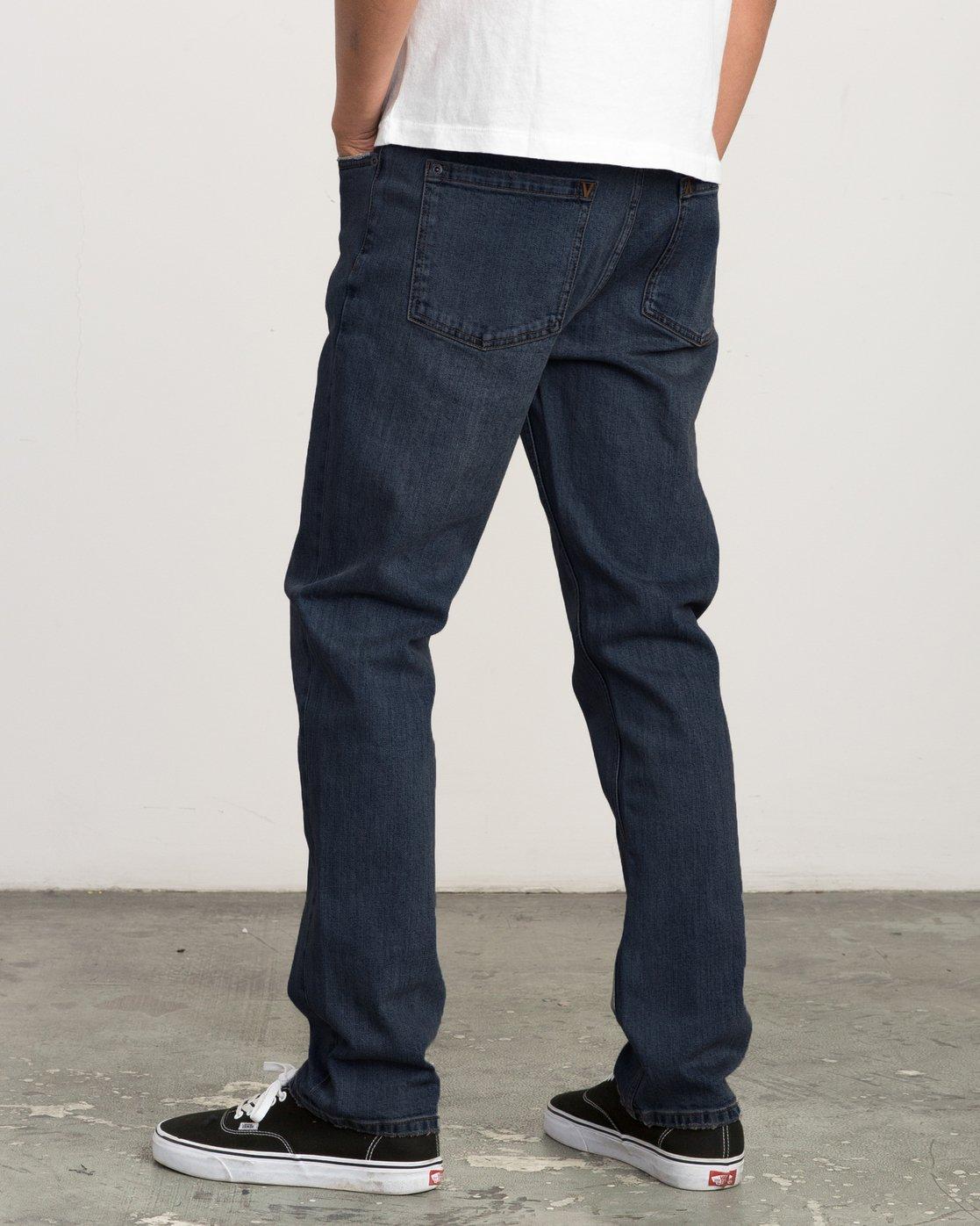 1 Daggers Slim-Straight Jeans Blue M303QRDA RVCA