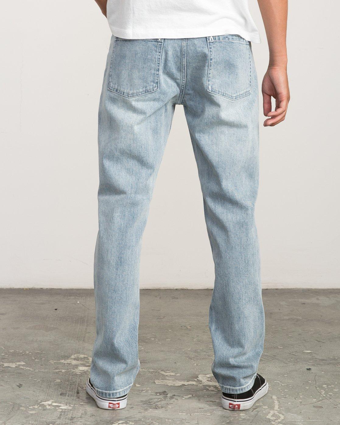 3 Daggers Slim-Straight Jeans Beige M303QRDA RVCA