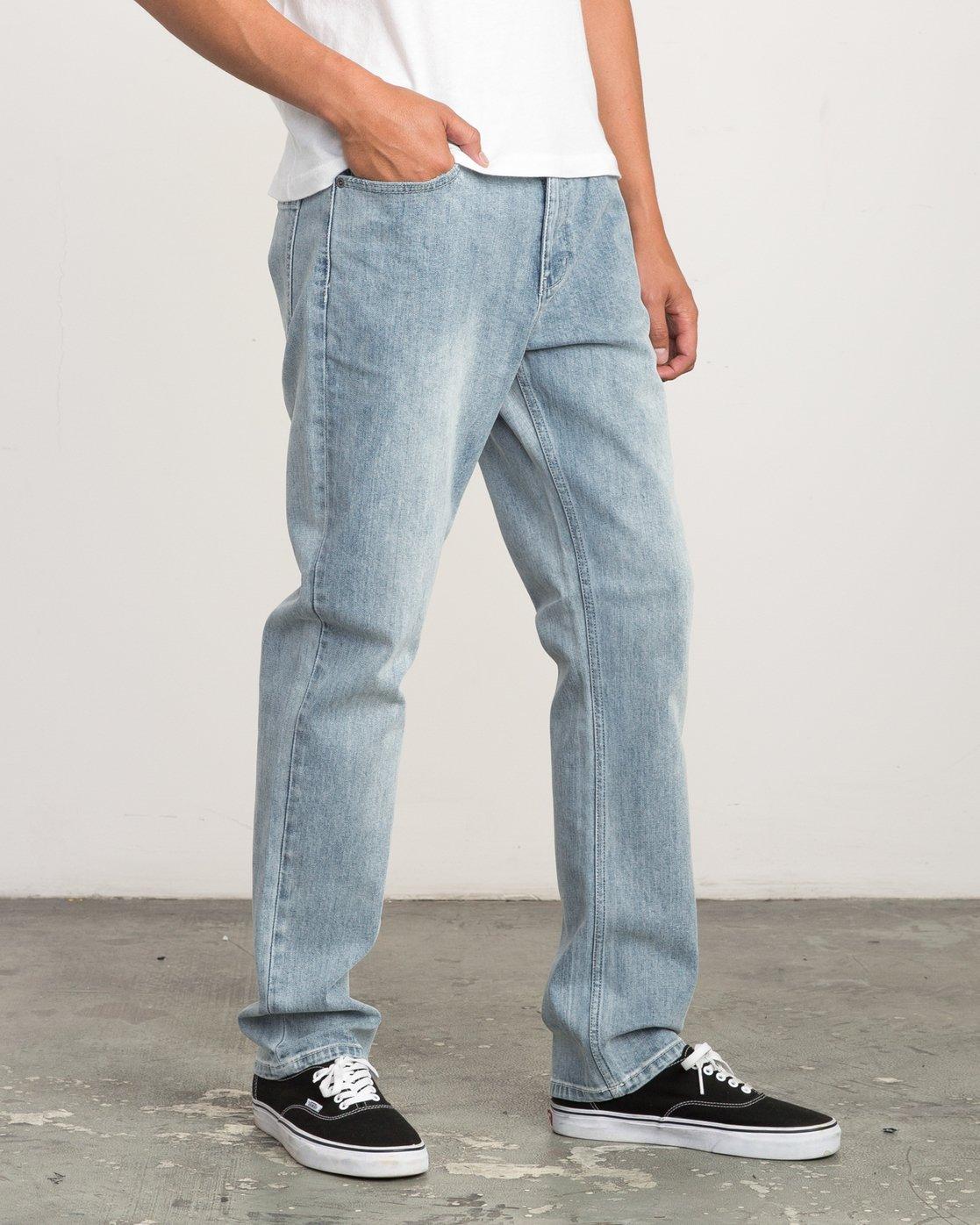 5 Daggers Slim-Straight Jeans Beige M303QRDA RVCA