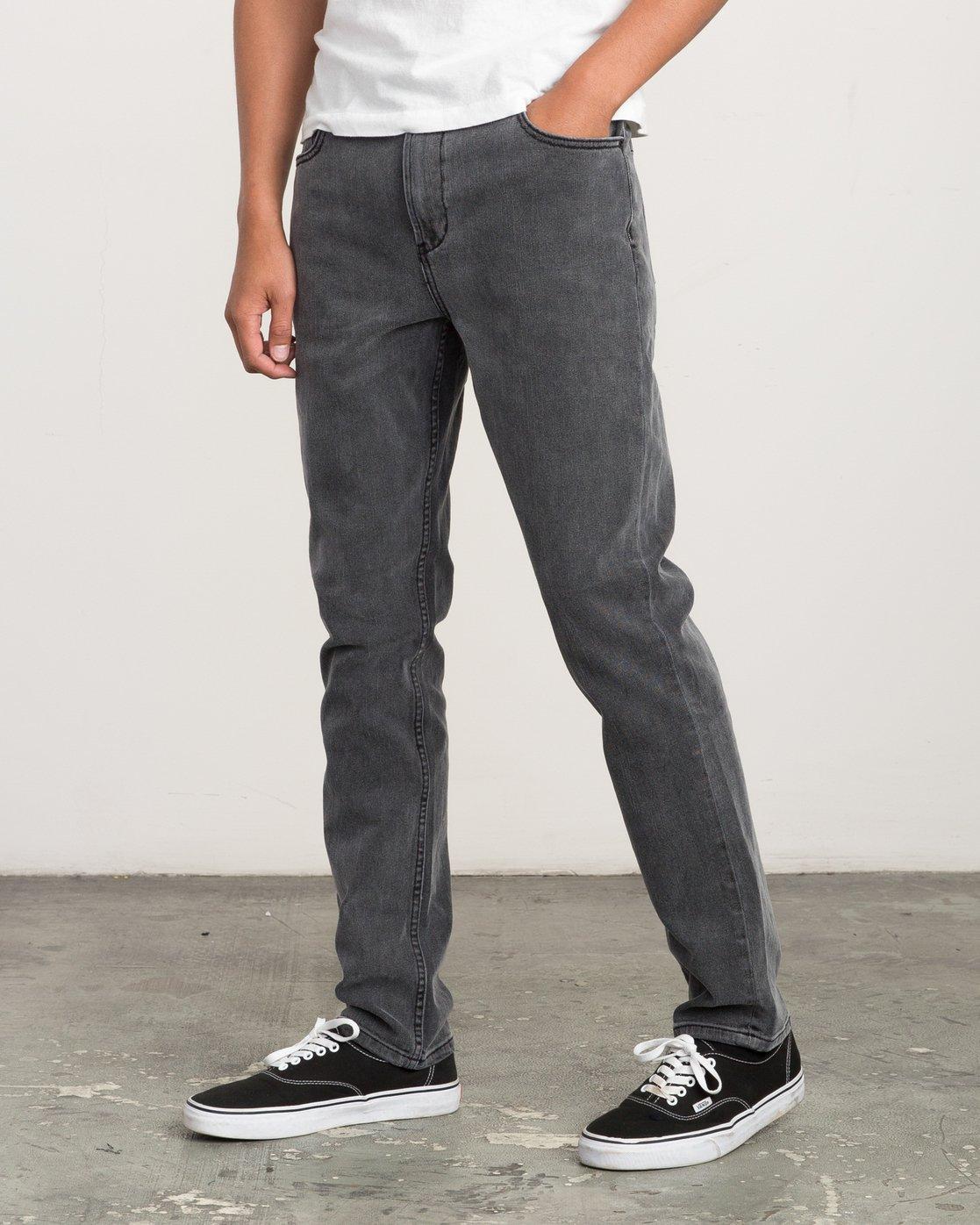 1 Daggers Slim-Straight Jeans Grey M303QRDA RVCA