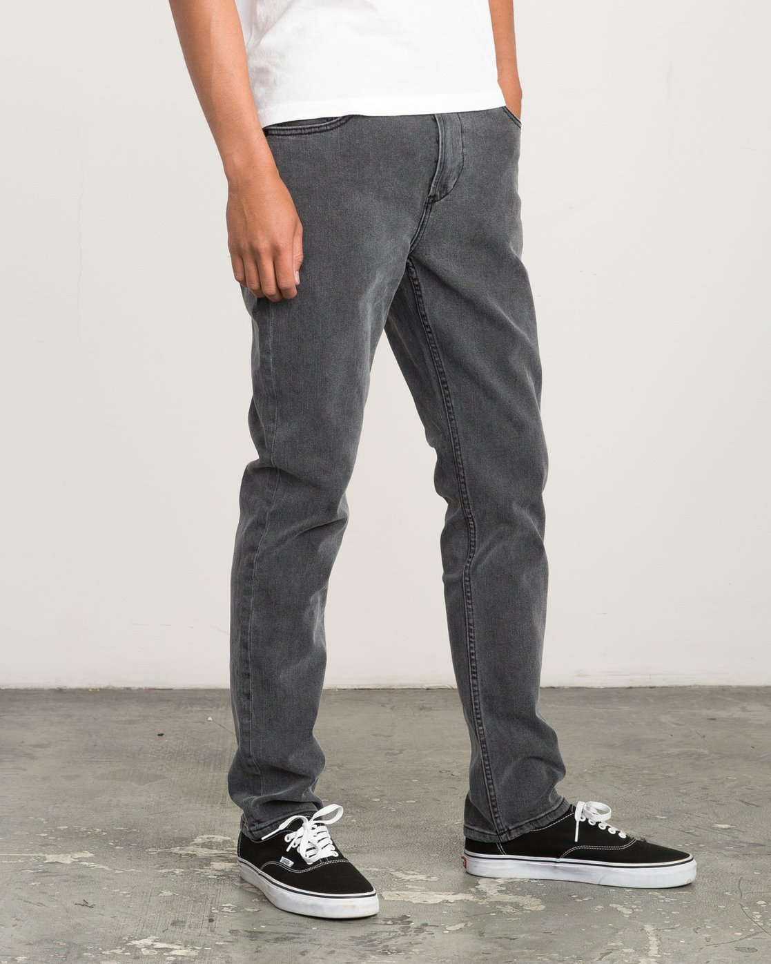5 Daggers Slim-Straight Jeans Grey M303QRDA RVCA